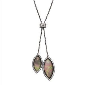 NWT SS Mother of Pearl Doublet Necklace